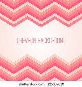 Chevron background. Abstract invitation card with zig zag ornament.