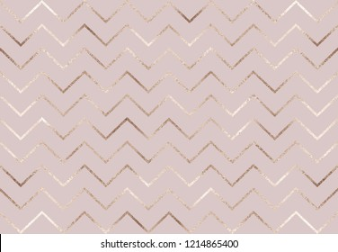 Chevron gold glitter seamless pattern.