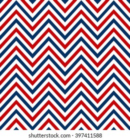 chevron marine white red blue seamless pattern vector.