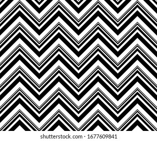 Chevron pattern. Modern Zig Zag seamless pattern for Background, Cover, Banner, Poster, Flyer, Interior, Wrapping paper, Packaging, Wallpaper Design and other textile product. Vector illustration.