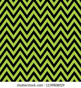 Chevron pattern seamless, black and green zig zag background
