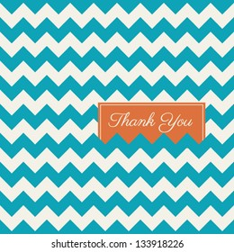 chevron seamless pattern background vector, thank you card