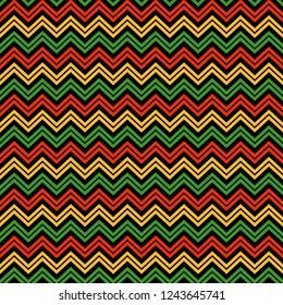 Chevron Seamless Pattern - Colorful chevron design for Kwanzaa