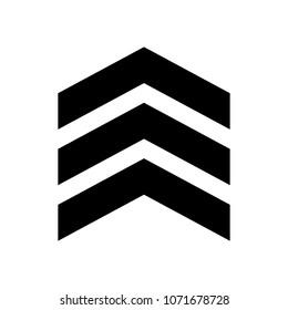 chevron vector icon on white background. flat style. chevron sign.