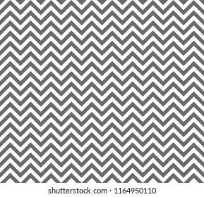 Chevron Zigzag Wave Seamless Pattern Grey. Vector.