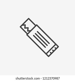 Chew gum icon vector. Chew gum symbol. Linear style sign for mobile concept and web design. Gum symbol illustration. Pixel vector graphics - Vector.