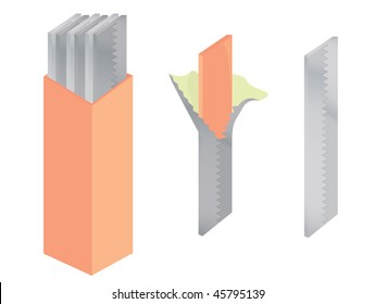 Chewing gum isolated - vector version
