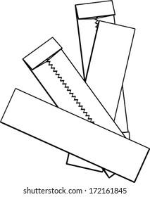 gum black and white - Clip Art Library
