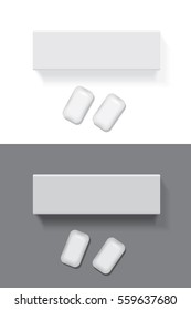 Chewing gum for your design and logo. Mock Up Vector template