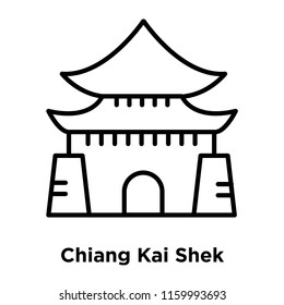 Chiang Kai Shek Memorial Hall icon vector isolated on white background, Chiang Kai Shek Memorial Hall transparent sign , line or linear sign, element design in outline style