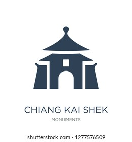 chiang kai shek memorial hall icon vector on white background, chiang kai shek memorial hall trendy filled icons from Monuments collection, chiang kai shek memorial hall vector illustration