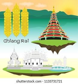 Chiang Rai vector, Northern Thailand