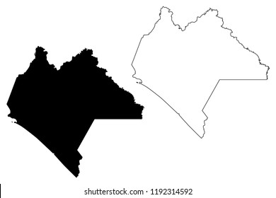 Chiapas (United Mexican States, Mexico, federal republic) map vector illustration, scribble sketch Free and Sovereign State of Chiapas map