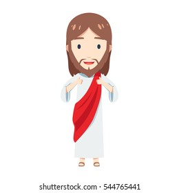 Chibi Jesus Christ is giving two thumbs up