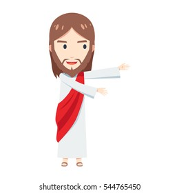 Chibi Jesus Christ is presenting a blank space