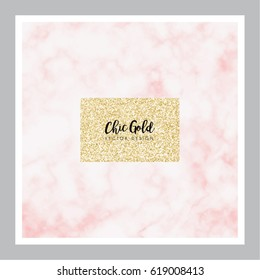 Chic Gold Marble Vector Design
