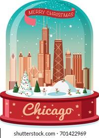 Chicago Christmas snowball