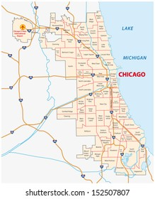 chicago community areas, map