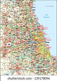 Chicago, Illinois area map