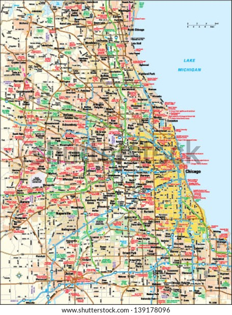 Chicago Illinois Area Map Stock Vector (Royalty Free) 139178096 on chicago zip map, new york metropolitan area, city of chicago map, delaware valley, chicago construction map, chicago loop map, oak park, magnificent mile map, lake michigan map, chicago neighborhood map, winnetka il map, illinois map, chicago suburbs map, chicago on us map, lake county, great lakes megalopolis, will county, dupage county, atlanta metropolitan area, chicago county map, cook county map, chicago township map, chicago loop, chicago crime map, cook county, chicago zip code, chicago road map, downtown chicago map, dallas/fort worth metroplex, greater houston, dekalb county, chicago tourist map, metro detroit, dupage county map,