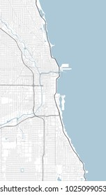 Chicago, Illinois (USA) street vector map
