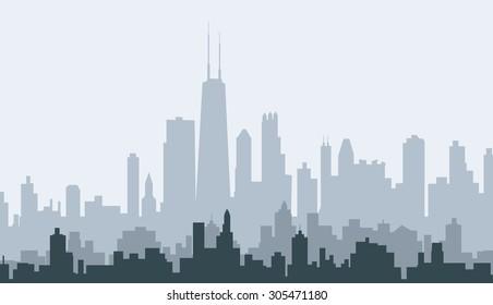 Chicago Morning Skyline
