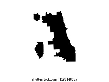 Chicago River Map Images, Stock Photos & Vectors | Shutterstock on