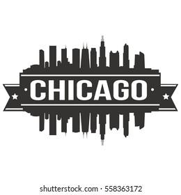 Chicago Stamp Skyline