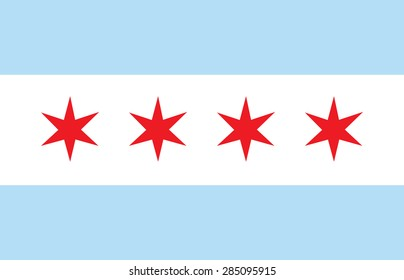 Chicago vector flag