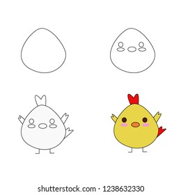 Chick animal cartoon