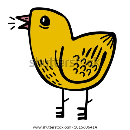 chick chirping icon stock vector royalty free 1015606414