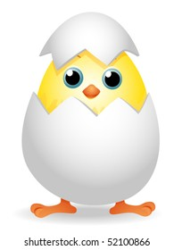 Chick in Egg - Vector