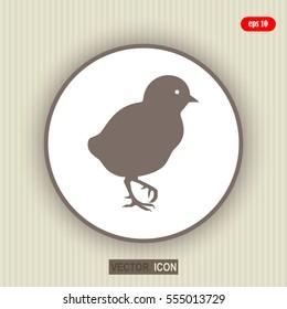 chick, icon, black silhouette