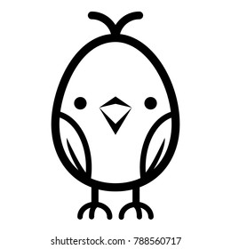 Chick icon. Simple illustration of chick vector icon for web