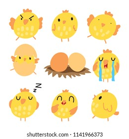 chick vector collection design
