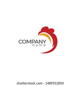 Chicken Abstract Logo simple and clean design