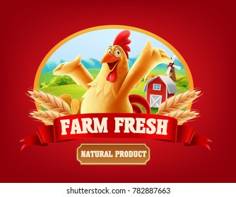 chicken banner illustration