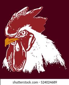 Chicken face illustration [vector]