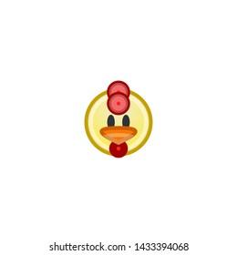 Emoji Chicken Images, Stock Photos & Vectors | Shutterstock