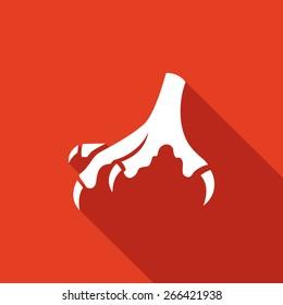 Chicken feet icon. Vector Illustration.