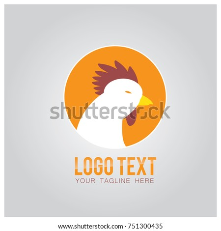 Chicken Food Logo Icon Vector Design Stock Vector Royalty Free