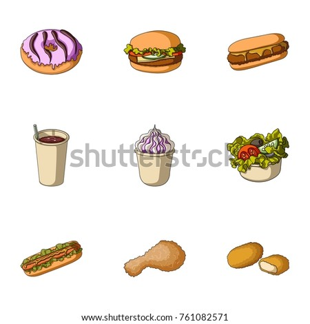 Chicken Food Snack Other Web Icon Stock Vector Royalty Free