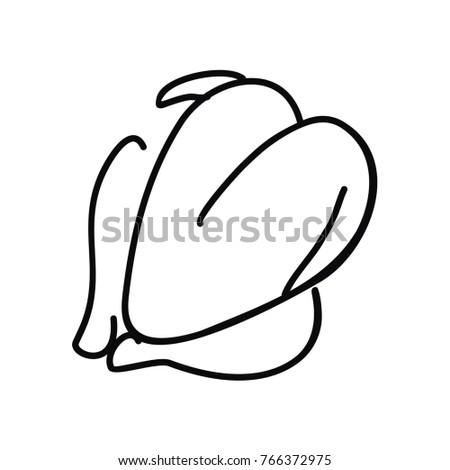 Chicken Food Vector Illustration Doodle Art Stock Vector Royalty