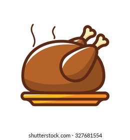 Chicken Grilled Vector Illustration