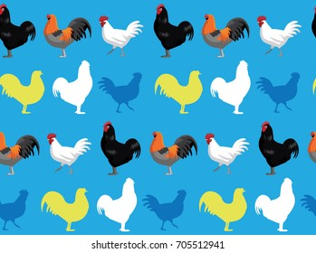 Chicken jersey giant blue background seamless wallpaper