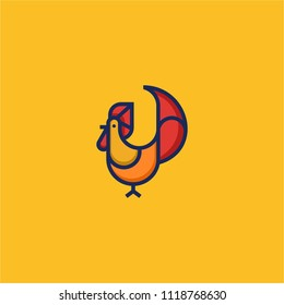 chicken line minimalis color