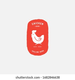 Chicken logo, Fried chicken restaurant, Rooster mascot, chicken farm and egg vector illustration.