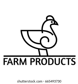 Chicken logo template on white background.