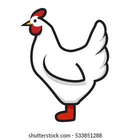 Chicken minimal vector isolated rooster