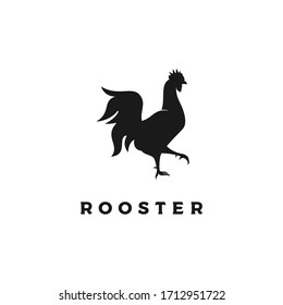 Chicken Rooster Silhouette Icon Logo design